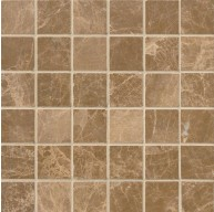 2x2 Emperador Light Marble Square Pattern Polished Mosaic Tile