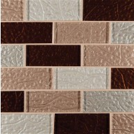 2x4 Ayres Blend Brick Pattern Glass Mosaic Tiles