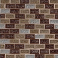 1x2 Fossil Canyon Bricks Pattern Glass Mosaic Tiles