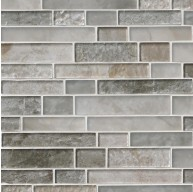 Savoy Interlocking Pattern 8mm Crystallized Glass Mosaic Tile