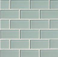 2x4 White Arctic Ice Brick Crystallized Glass Mosaic Tiles