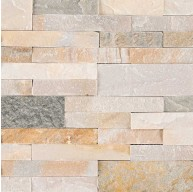 6x22 Golden Honey Veneer Peel and Stick Quartzite Mosaic Tile