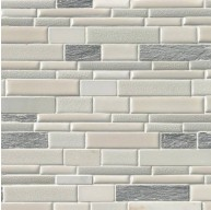 Everest Interlocking Porcelain Stone Mesh Mounted Mosaic Tile