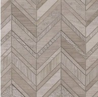 12 in. x 12 in. White Quarry Chevron Pattern Marble Mosaic Tile