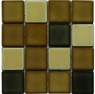 3×3 Carson Blend Square Pattern Polished Mosaic Tile by Soci