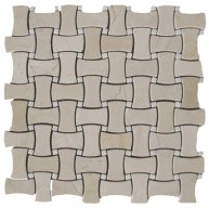 Austin Large Basketweave Pattern Polished Mosaic Tile by Soci