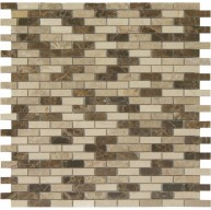 Morocco Blend Small Brick Pattern Polished Mosaic Tile by Soci