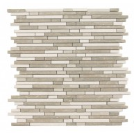 Nantucket Blend BT Brick Pattern Polished Mosaic Tile by Soci