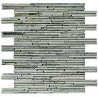 Ming Green Marble Bamboo Pencil Polished Mosaic Tile
