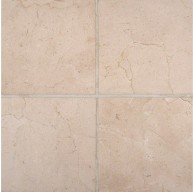 6 in. x 6 in. Crema Marfil Marble Polished Square Pattern Tile
