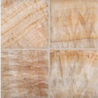 6 in. x 6 in. Honey Onyx Square Pattern Polished Finish Mosaic Tile