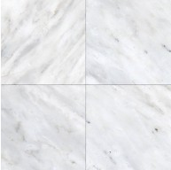 Arabescato Carrara Marble 6x6 Square Beveled & Polished Wall and Floor Tile