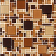 Chestnut Blend Versailles / Magic Pattern Glass Mosaic Tiles