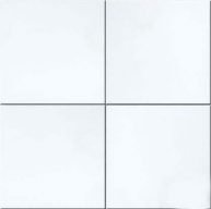 12 in. x 12 in. Thassos White Solid Polished Finish Marble Flooring Tile