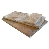 Tuscany Porcini 6 in. x 12 in. x 3 cm Travertine Coping for Pool, Patio, Caps or Driveways (Each Sqft. = 2 Pieces)