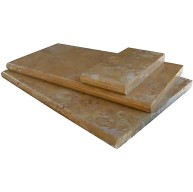 Tuscany Riviera 6 in. x 12 in. x 3 cm Thick Brushed Travertine Coping for Pool, Patio and Driveway (Each Sqft. = 2 Pieces.)