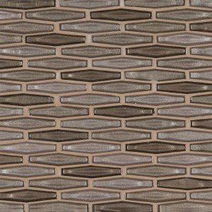 Champagne Estate 6mm Glass Mosaic Tile