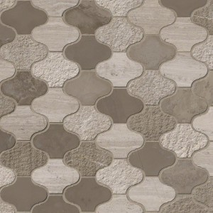 Arctic Storm Arabesque Multi Finish Marble Mosaic Tile