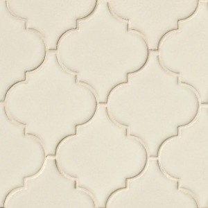 Antique White Arabesque Lantern Pattern Ceramic Mosaic Tile
