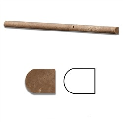 1/2 x 12 Noce Noche Travertine Decorative Pencil Liner Molding