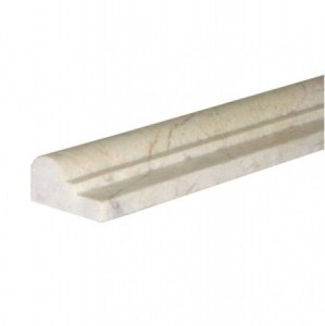 Botticino beige marble 2x12 chair rail decorative molding bullnose trim