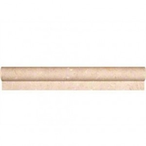 "Crema marfil marble 2"" x12"" chair rail molding honed bullnose trim"