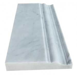 Asian statuary carrara marble 5x12 skirting baseboard decorative polished molding millwork trim double