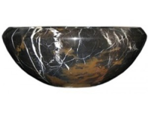 14 in. Round Michael Angelo Marble Bathroom Sink Above Counter