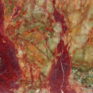 18 in. x 18 in. Multi RED GREEN Onyx Solid Polished Finish Flooring Tile
