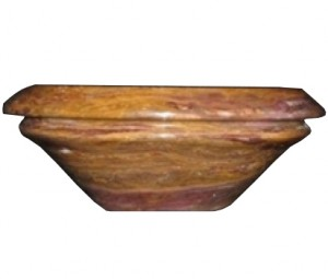 14 in. Honey Gold Onyx Contemporary Round Vessel Style Drop In or Above Vanity Bathroom Sink