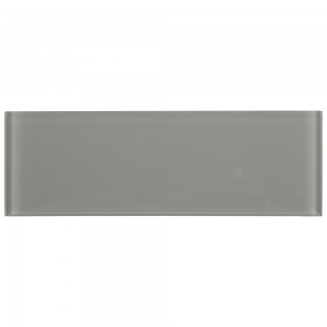 Oyster Gray 4x12 Subway Glossy Glass Wall Tile