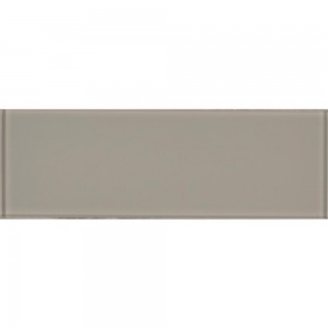 Pebble Gray 4 in. x 12 in. Subway Glossy Glass Wall Tile | Backsplash | Bathroom | Fireplace | Kitchen | Shower