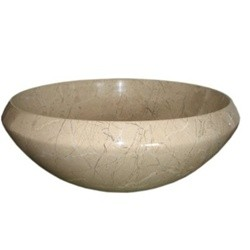 16 in. Contemporary Round Verona Marble Vessel Style Above Vanity Bathroom Sink