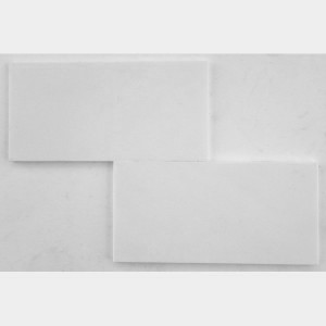6 in. x 12 in. Thassos White Marble Brick Pattern Honed Mosaic Tile