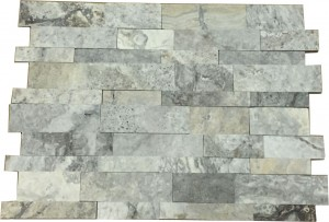 7 in. x 20 in. Silver Honed Travertine Ledger Panels Wall Tile