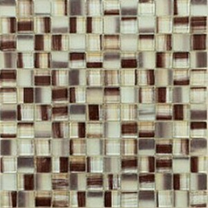 1 x 1 new trend art brown square glass mosaic tile