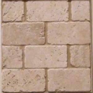 3 in. x 6 in. Tuscany Ivory Travertine Tumbled Subway Wall Tile (8-Pack)