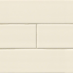 4 in.x 16 in. Almond Glossy Ceramic Subway Tile