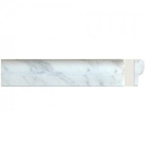 Bianco carrara marble 2 X 12 chair rail liner trim