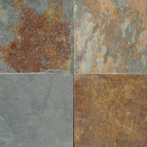12 in. x 12 in. California Gold Solid Cleft Gauged Finish Slate Flooring Tile