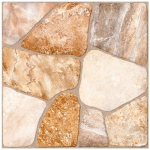 Beige Matte Crackled 17-3/4 in. x 17-3/4 in. Ceramic Floor and Wall Tile (17.5 sq. ft. / case)