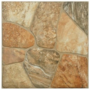 Tawny Matte Crackled 17-3/4 in. x 17-3/4 in.Caliza Ceramic Floor and Wall Tile (17.5 sq. ft. / case)