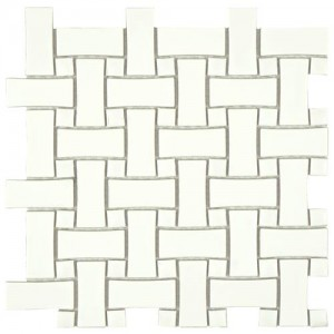 Cityside Mixed White Basket Weave 10-1/2 in. x 10-1/2 in. x 5 mm Porcelain Mosaic Tile