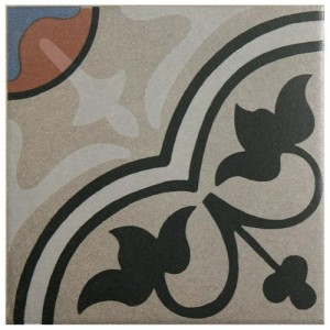 Sultan Matte Metal Flower Square 7 in. x 7 in. Porcelain Floor and Wall Center Tile
