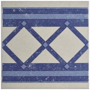 Sultan Matte Danem Square 7 in. x 7 in. Porcelain Floor and Wall Border Tile