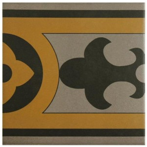 Sultan Matte Canary Square 7 in. x 7 in. Porcelain Floor and Wall Border Tile