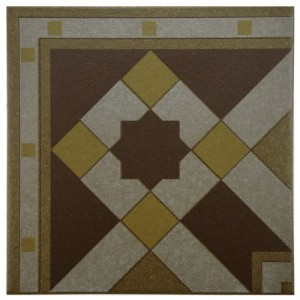 Sultan Matte Hickory Square 7 in. x 7 in. Porcelain Floor and Wall Corner Tile