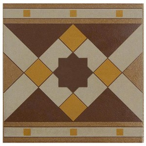 Sultan Matte Hickory Square 7 in. x 7 in. Porcelain Floor and Wall Border Tile