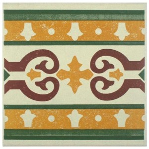Sultan Matte Mustard Square 7 in. x 7 in. Porcelain Floor and Wall Border Tile