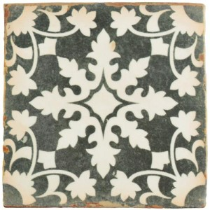 Madrid Matte Chiffon Flower Square 4-7/8 in. x 4-7/8 in. Ceramic Floor and Wall Tile (5.9 sq. ft. / case)
